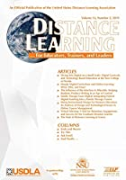 Distance Learning: Volume 16 #2 (Distance Learning Journal)