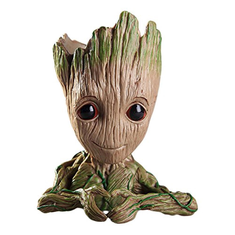 SUKIDA グルート groot Guardians Of The Galaxy Flowerpot Baby Groot   グッズ コスプレ フラワーボックス 筆たて 鉢植え パーティー グッズ 小物 子供用 父の日ギフト誕生日 イベント  (ハート)