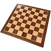 Chronos Chess Board with Inlaid Walnut Wood - Board Only - 11 Inch