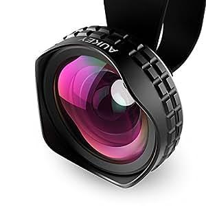 AUKEY スマホレンズ 広角レンズ HD 0.7倍ワイドレンズ クリップ式レンズ 自撮りレンズ セルカレンズ iPhone、Samsung、Sony、Androidスマートフォン、タプレットなどに対応 PL-WD01