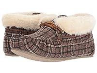 [MINNETONKA(ミネトンカ)] レディーススリッパ・スリッポン・靴 Chrissy Brown Plaid Suede 5 (22cm) M [並行輸入品]