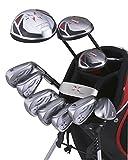 x-line(エックスライン) ゴルフクラブセット 11本組 ヘッドカバー キャディーバッグ付 SR XLP-121 【Amazon.co.jp限定】