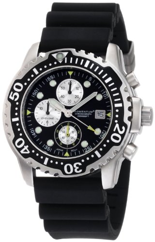 Momentum (モーメンタム) 1M-DV84B1B Cyclone Chrono Black Hyper Natural Rubber Watch メンズ 男性用 腕時計 ウォッチ(並行輸入)