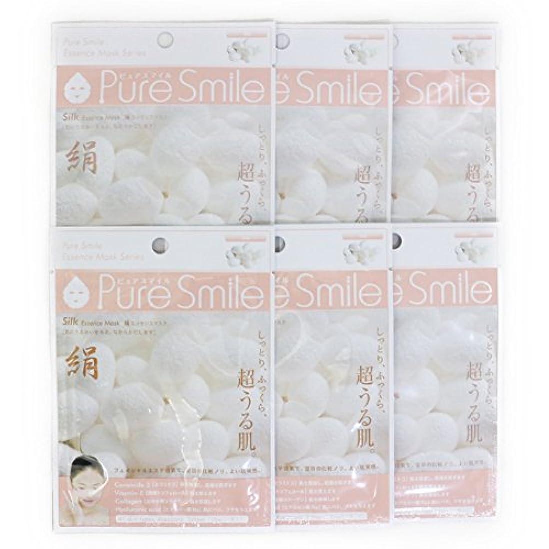 アルコール改修するパイロットPure Smile ピュアスマイル エッセンスマスク 絹 6枚セット