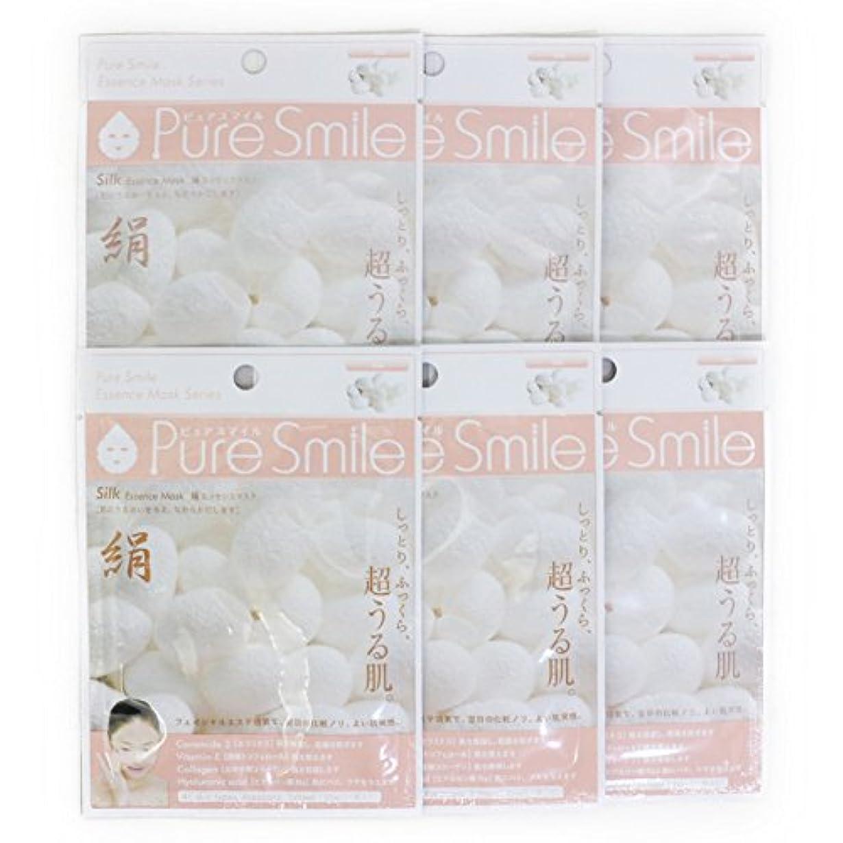 シンプルなファセット逆にPure Smile ピュアスマイル エッセンスマスク 絹 6枚セット