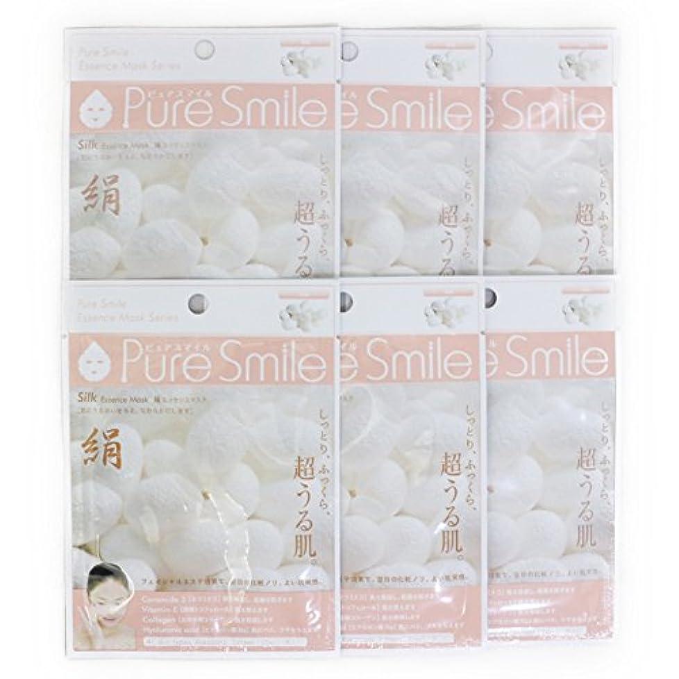 筋散る肉腫Pure Smile ピュアスマイル エッセンスマスク 絹 6枚セット