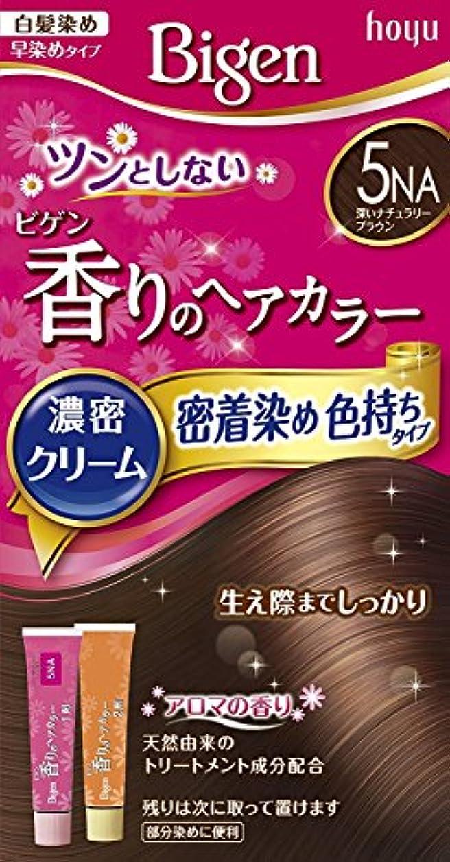 渦落ち着いた薄めるホーユー ビゲン香りのヘアカラークリーム5NA (深いナチュラリーブラウン) ×3個