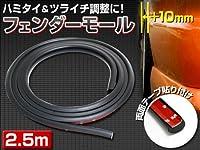 【シードスタイル】フェンダーモール  2.5m  ブラック