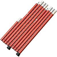 ザキャンパー アルミポール ヘキサタープ用セット270cm+240cm (60cm×4節×2本+30cm節) 直径28mm 赤 RED