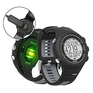ランニングウォッチ GPS 心拍計 防水 Bluetooth搭載 歩数計活動量計 着信通知 専用日本語アプリ対応 EZONT907B11
