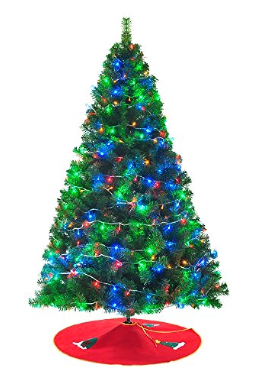 Xmas クリスマスツリー 150cm Christmas tree ツリー グリーン カラー LED イルミネーション ツリースカート付き アニメ専線