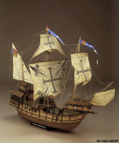 1142 輸入木製帆船模型 マモリ社 MV21 カラカ・アトランチカ