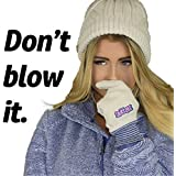 Snittens for Ladies-The Original Snot Mittens. Funny Gift for Women, Winter gloves for runners hikers skiers for Birthday Valentines Mother's Day Christmas. Convenient Absorbent Funny and Cute