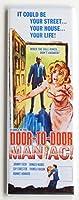 ドアにドアManiac映画ポスター冷蔵庫マグネット( 1.5X 4.5インチ
