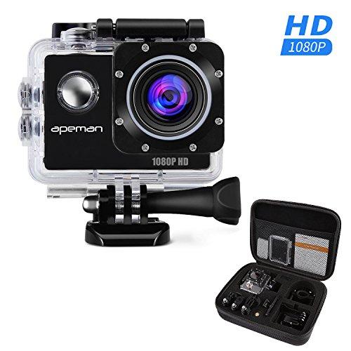 APEMAN アクションカメラ アクションカム スポーツカメラ フルHD1080P高画質 170度広角レンズ 30m防水 携帯用バッグ付属 日本語説明書付属