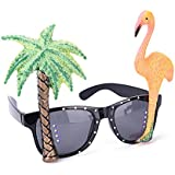 Junke Funnyハワイアントロピカルサングラス、メガネ、フラミンゴの木のデザインのビーチ、Luau、ビール祭、パーティー