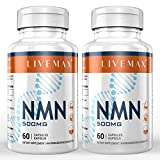 NMN Nicotinamide Mononucleotide Supplement, NAD Booster Supplement, Vitamin B3 Family, 2 Pack 120 Capsules - 500mg NMN Per Serving to Support NAD, Anti Aging Skin Cell Health & Energy