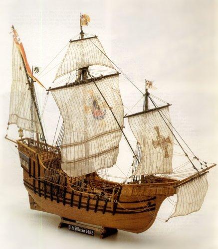 1147 輸入木製帆船模型 マモリ社 MV42 サンタマリア