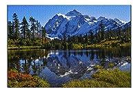 マウントベイカー国立公園 ワシントン-マウント・シュッサン- 写真 A-92226 (20x30 プレミアム 1000ピース ジグソーパズル 米国製)