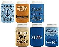 面白いビールCoolie NauticalバンドルマルチパックCan CoolieドリンククーラーCoolies A-B-S-C0252-06