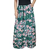 Womens Hippie Skirt Summer Giorgia Printed Maxi Casual Skirts Large