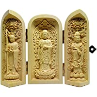 ツゲ 木彫仏像 彫刻 (地蔵菩薩・阿弥陀如来・観音菩薩)