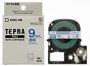 キングジム テープカートリッジ テプラPRO 透明ラベル ST9B