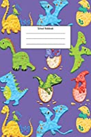 School Notebook: Style Dinosaur Era Notebook For Kids, Students, Teachers, Staff, Perfect Gift, School Notebook, Office Supplies (110 pages, lined, 6 x 9)