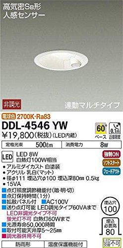 大光電機 LED人感センサー付ダウンライト DDL-4546YW