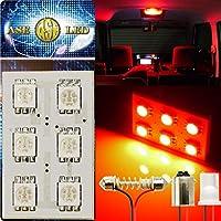 6連LEDルームランプT10×31mmBA9S(G14)レッド1個 as343
