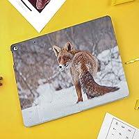 iPad Air 10.5 ケース/iPad Pro 10.5 ケース 薄型 オートスリープ機能 三つ折りスタンド田園地帯の雪の風景の毛皮で覆われた野生動物の狩猟Vulpine寒い冬プリント装飾