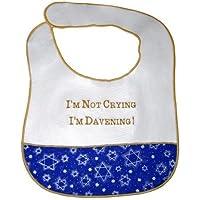 I'm Not Crying, I'm Davening! Jewish Baby Bib by Davida