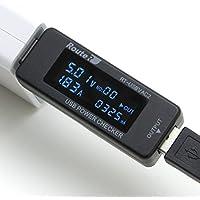 ルートアール USB 簡易電圧・電流チェッカー 積算機能・時間・ワットVA同時表示対応 RT-USBVAC2