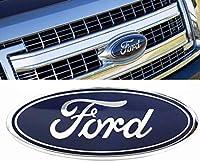 Bear fire 2005-2014 フォード F150 ダークブルー 楕円形 9インチ X 3.5インチ フロントグリル 交換用バッジ エンブレム メダリオン ネームプレート