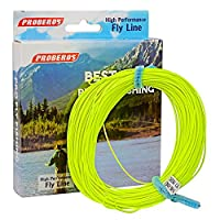 (3F, Yellow) - Proberos Fly Line with Weight Forward Enhanced Welded Loop Floating PE Fly Fishing Lines Multiple Colours WF 2F-8F