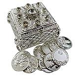 Westmon Works Arras De Boda Wedding Set Metal Case with Rhinestones and Unity Marriage Tokens