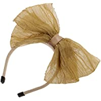 SONONIA 1/6 BJD SD ドルフィー 人形用 リボン製 ちょう結び カチューシャ ヘアバンド 人形飾り ギフト 全5色選べる - カーキ, 4.6x4.5cm
