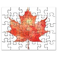 CafePress - Maple Leaf Art - Jigsaw Puzzle, 30 pcs.
