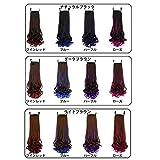 Amazon.co.jpZooooM 全 12 色 カラフル グラデーション カラー ウィッグ ロング 毛先 パーマ カール 部分 テール パーツ コスプレ ( ライト ブラウン × パープル ) ZM-WIG1547-LBRPP