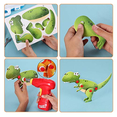 Haifeng Design Gift Drill Educational Toys Games 3D Construction Building Block Stem Engineering Toys Tool kit Best Boys and Girls