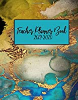 Teacher Planner Book 2019-2020: Blue Agate Geode Gold Black Marble | Weekly Lesson Plan | School Education Academic Planner | Teacher Record Book | Class Student Schedule | To Do List | Password Manager | Organizer Gift (Teacher Lesson Planners 2019-2020)