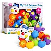 Bemixc 積み木 13pcs 赤ちゃんおもちゃ 新生児出産祝い 女の子 男の子 誕生日プレゼント 立体パズル 組み立て 早期開発 教具 嵌め込みケムシ 0歳1歳 2歳  想像力を育つ知育玩具