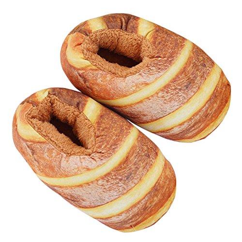 TITENREI おもしろ スリッパ パンみたいなスリッパ/フランスパン コットンスリッパ 保温 歩きやすい レディース シューズ 冬用