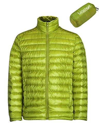 (レスマート) Lesmart メンズ ダウンジャケット 軽量 アウトドア 登山 防寒 防風 ウルトラライト コート 大きいサイズ XL グリーン1