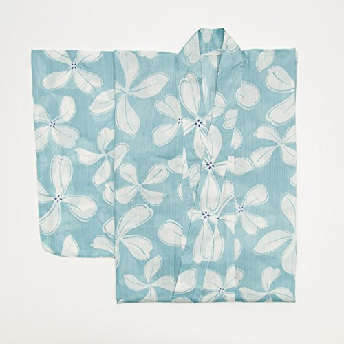 TAYU-TAFU(たゆたふ)浴衣レディースレトロしじら織フリー水色×白
