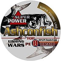 Ashconfish PEライン 釣り糸 X8 (150m 200m 300m 1000m) (1号 1.2号 1.5号 2号 2.5号 3号 3.5号 4号 5号 6号 7号 8号 9号 10号) (5色 マルチカラー/白 ホワイト/黄色 イエロー) 8編