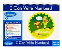 Fundanoodle I Can Write Numbers Writing Tablet 12 x 9 Inches 46 Sheets Ages 4-5/Pre K to K (15277) [並行輸入品]