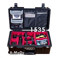A-MoDe IN1535 パッド入り仕切り + LID1519B ノートパソコン蓋オーガナイザー Peli 1535用 (ケースなし)