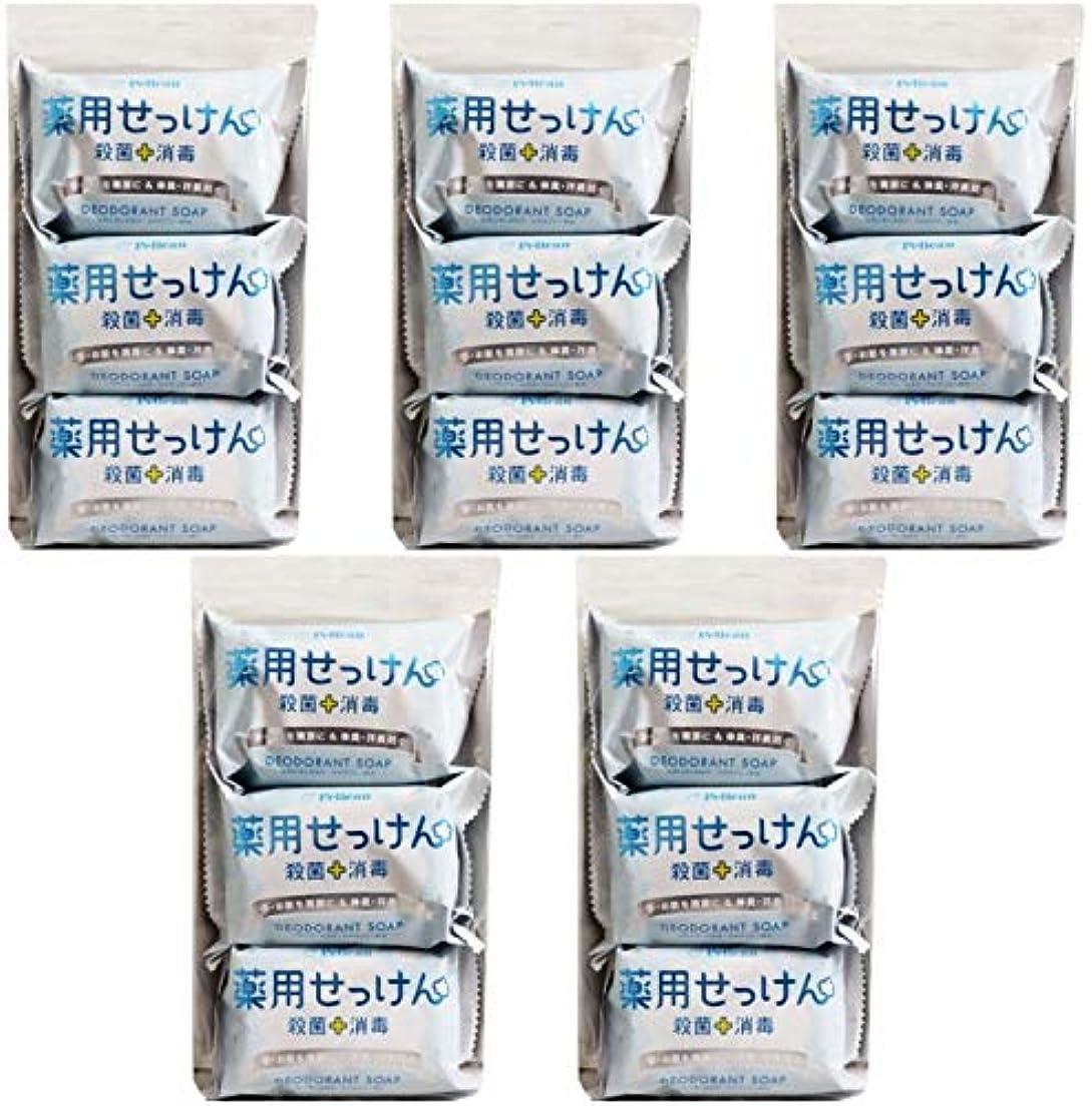 パイル罹患率死傷者【まとめ買い】ペリカン石鹸 薬用せっけん 85g×3個【×5個】