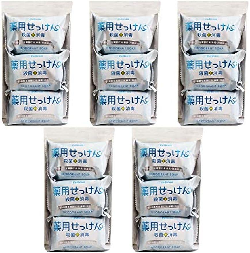 背骨インフラナイロン【まとめ買い】ペリカン石鹸 薬用せっけん 85g×3個【×5個】